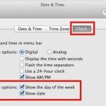 Show date in the menu bar of Mac OS X