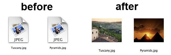 Image thumbnail previews in Mac OS X Finder