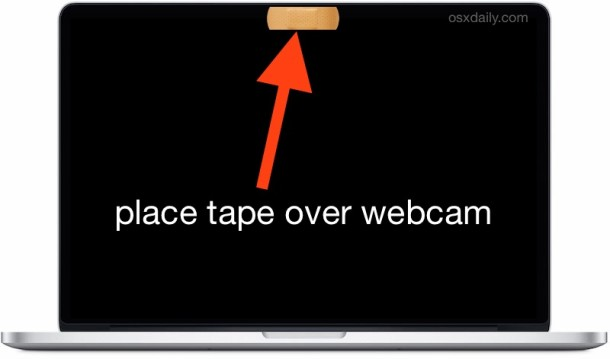 Tape over webcam MacBook Pro