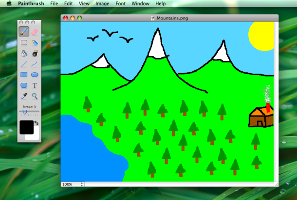 Paintbrush for Mac is an MS Paint clone