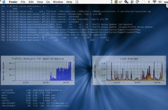 GeekTool Screenshot