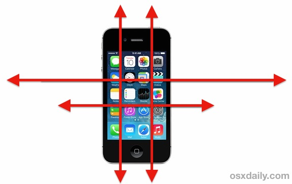 Undo button on the iPhone with motion