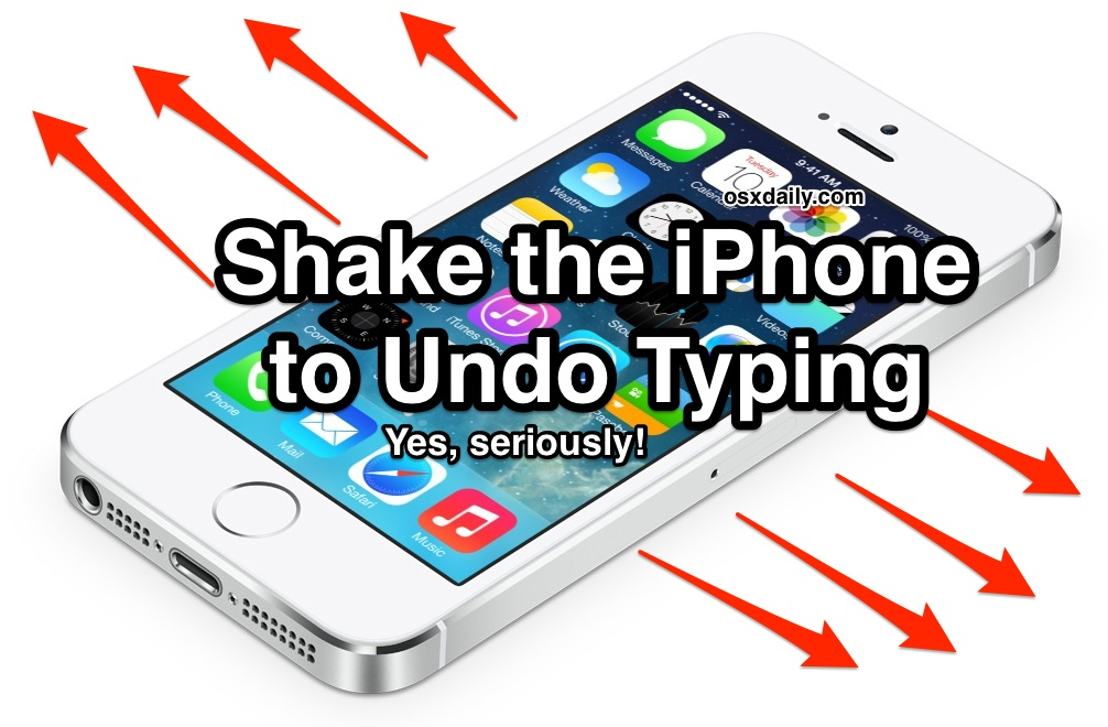 Undo typing with a Shake on the iPhone