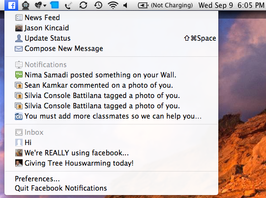 facebook desktop notifications