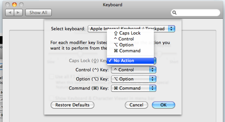 disable capslock or reassign it to a new key function