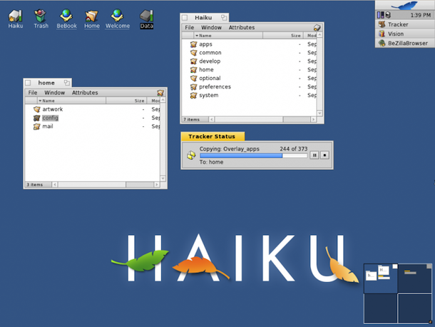 haiku screenshot