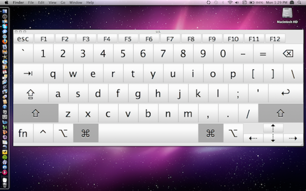 snow leopard touch screen keyboard