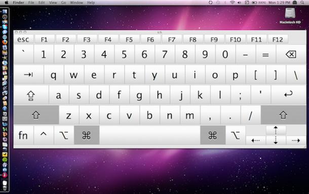 snow leopard touch screen keyboard