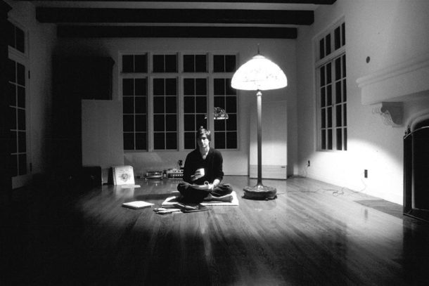 Steve Jobs picture by Dianne Walker in black and white