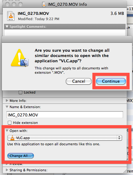 change mac file association