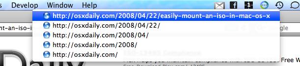 command click menubar