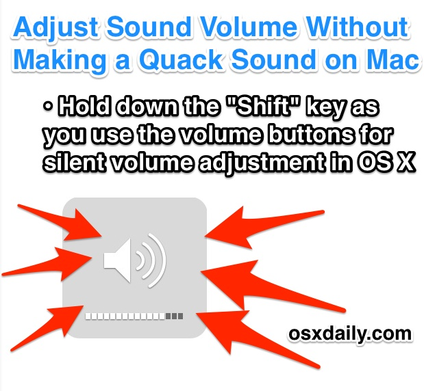Adjust the Sound Silently in Mac OS X - No Quack!