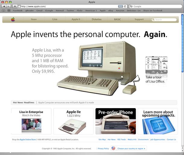 old apple website