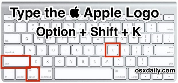 Type the Apple Logo with a keystroke