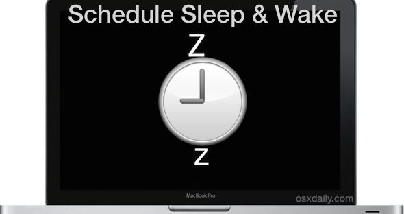 Schedule a Mac to Sleep, Wake, Shutdown, and Boot on Time