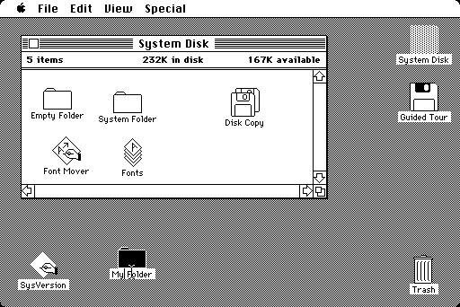 Macintosh Mac OS Classic System 6 screen shot