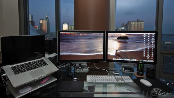 macbook pro with dual cinema displays