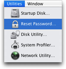 reset lost password mac os x