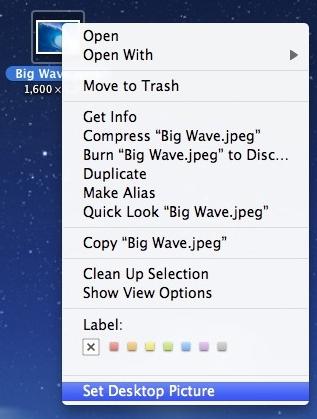change mac desktop picture