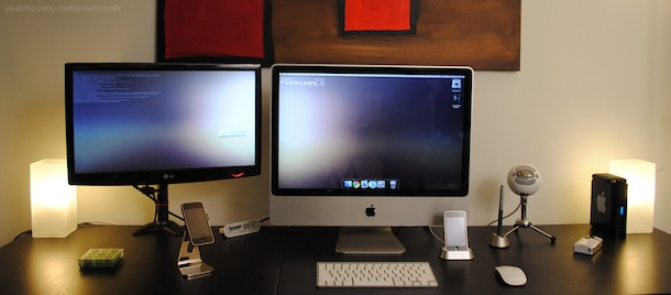 imac with external display