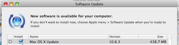 mac os x 10.6.3 update