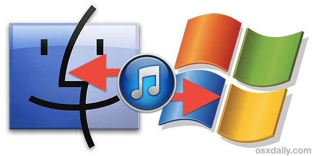 Move an iTunes Library from Windows PC to Mac OS X or vice versa