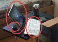 ridiculously concvenient ipad setup