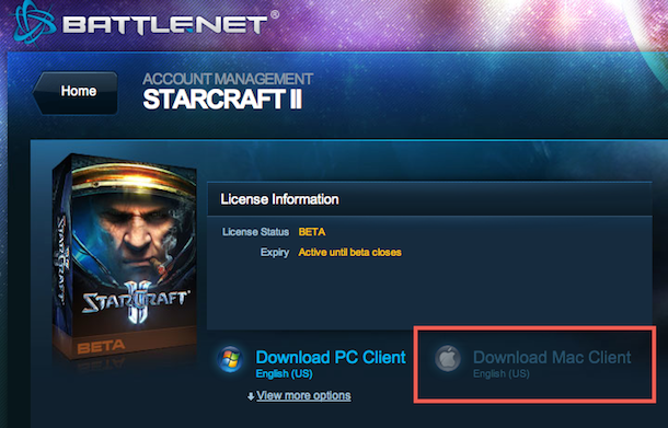 starcraft 2 beta for mac