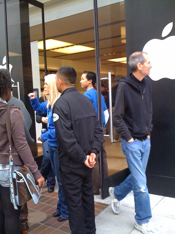 steve jobs visiting apple store
