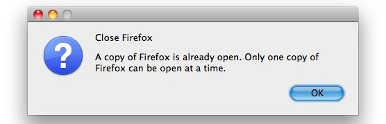 close firefox already open