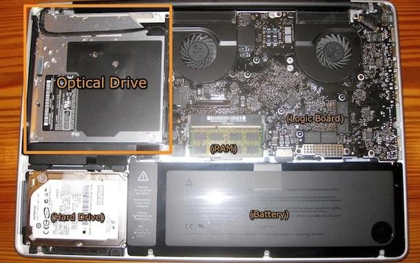 disassembled unibody macbook pro