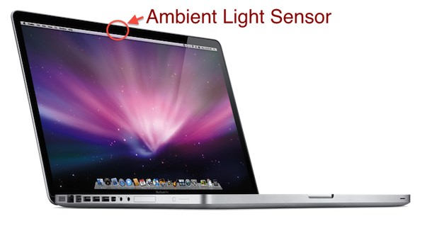 macbook pro ambient light sensor