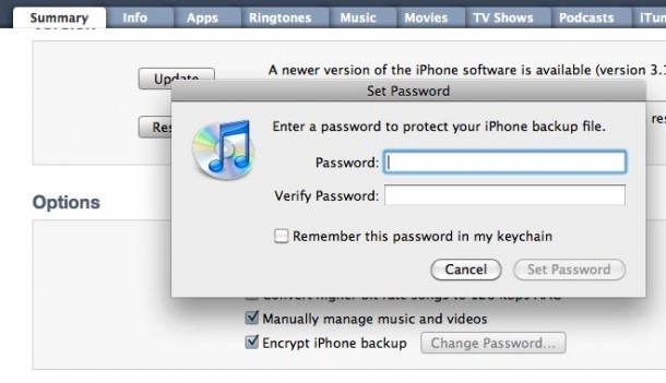 what is my iphone backup password how to password protect iphone and backups 5164