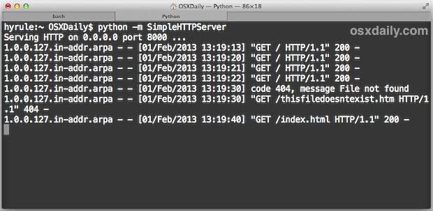 python web server