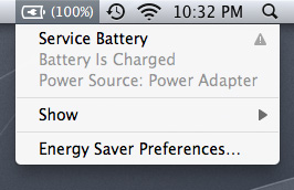 service battery indicator mac