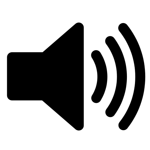 Sound volume indicator icon