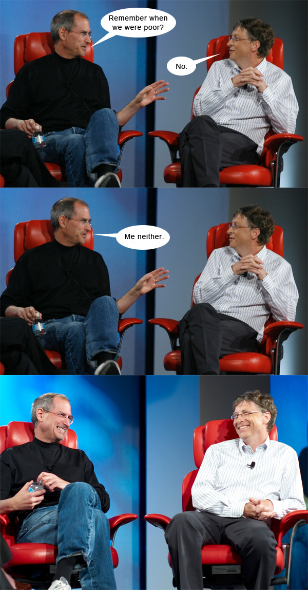 steve jobs bill gates were poor