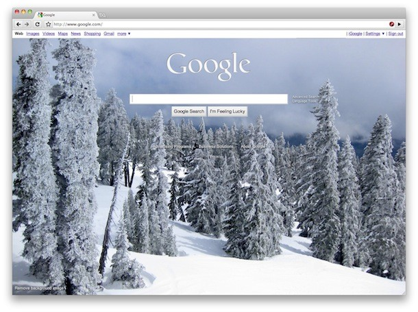 change google background picture