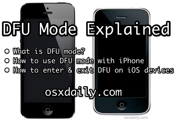 iPhone DFU Mode Explained: How to use DFU mode, what is DFU mode for