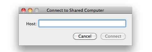 screen sharing in Mac OS X