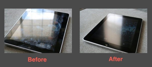 anti-glare ipad screen