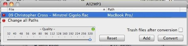 convert flac to mp3 audio quality