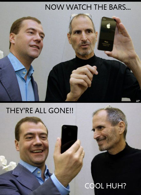 iphone 4 bars gone