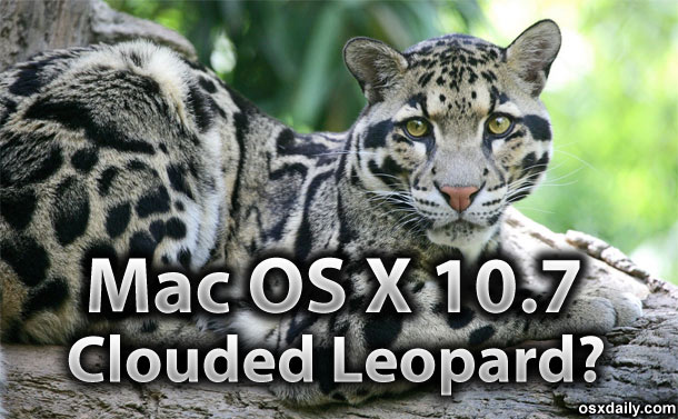 Mac OS X 10.7 Clouded Leopard
