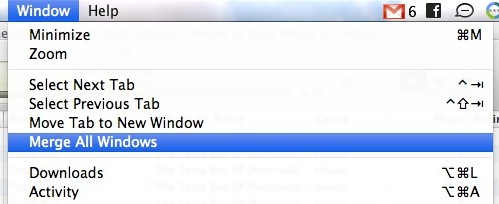 merge windows to tabs safari
