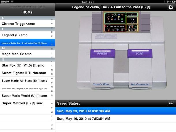play snes ipad