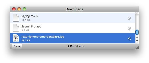 safari downloads window