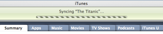 syncing the titanic iphone