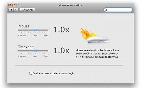 adjust mouse acceleration mac