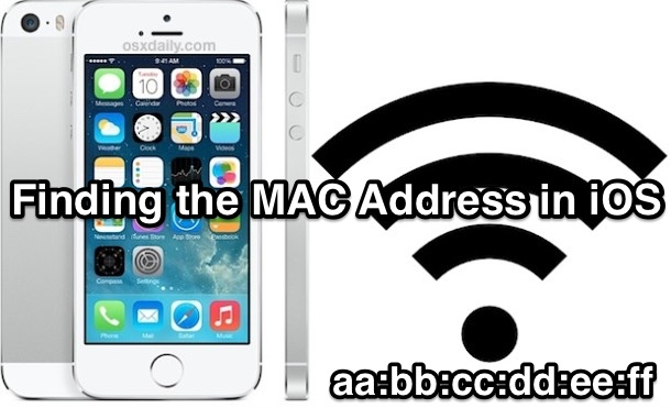 Find a devices MAC Address in iOS